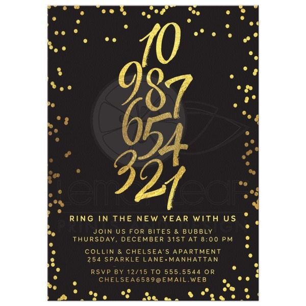 Amazing New Years Eve Party Invitations 90 On Invitation Design