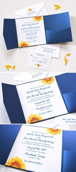 Best Sunflower Wedding Invitations