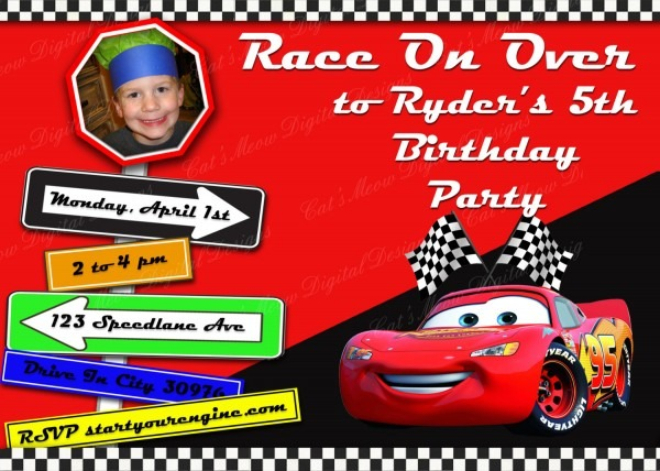 Amazing Personalized Disney Cars Invitations 88 In Hd Image