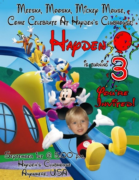 Amazing Personalized Mickey Mouse Birthday Invitations 56 For