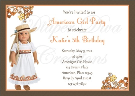 American Girl Birthday Party Invitations Ideal With American Girl