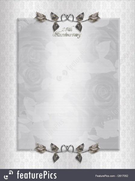 Templates  25th Silver Anniversary Invitation