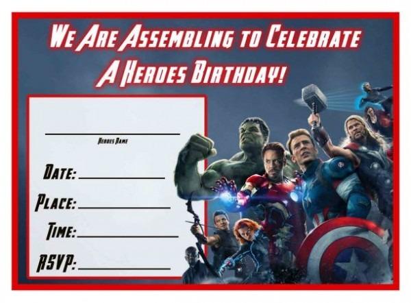 Avengers Age Of Ultron Printable Birthday Invitation Epic Avengers