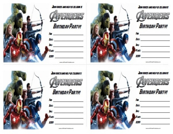 Avengers Party Invitations Ideal Avengers Party Invitations