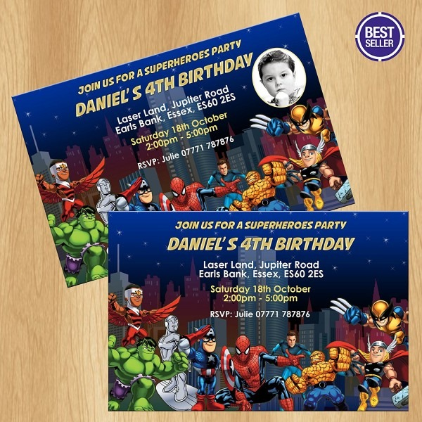 Avengers Party Invitations Avengers Party Invitations For Best