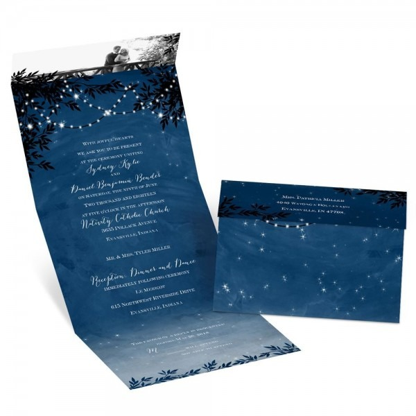 Starry Night Seal And Send Invitation