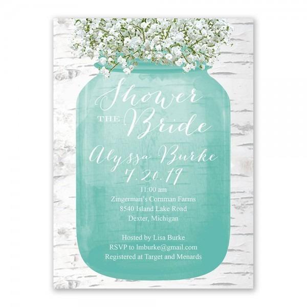 Babys Breath Bridal Shower Invitation