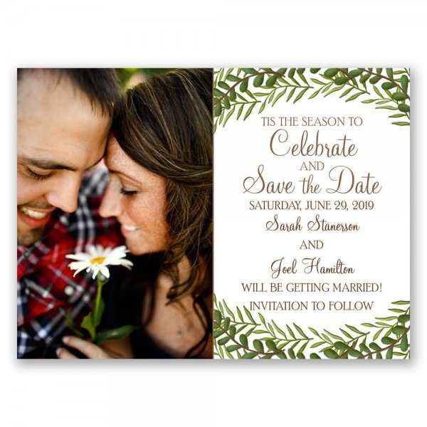 Tis The Season Holiday Card Save The Date