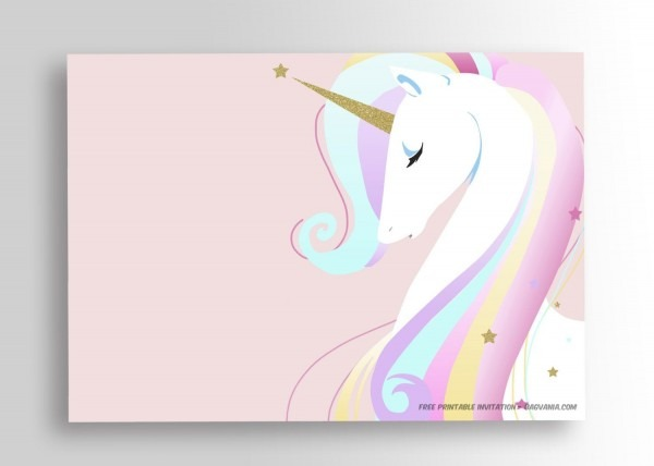 Awesome Free Printable Unicorn Birthday Invitation Template Free