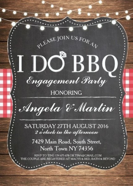 I Do Bbq Engagement Party Invitatio Lovely I Do Bbq Engagement