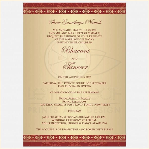 Awesome Indian Wedding Reception Invitation Wordings