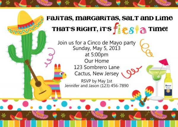Awesome Mexican Party Invitations 28 On Invitations Cards