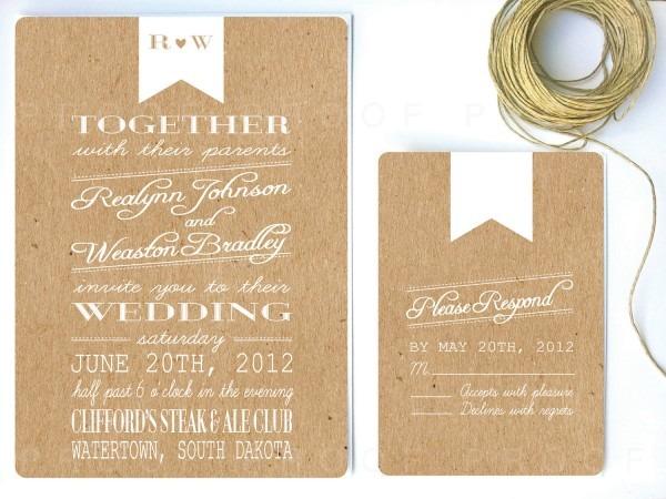 Awesome Wedding Invitation Paper Wedding Invitations On Kraft