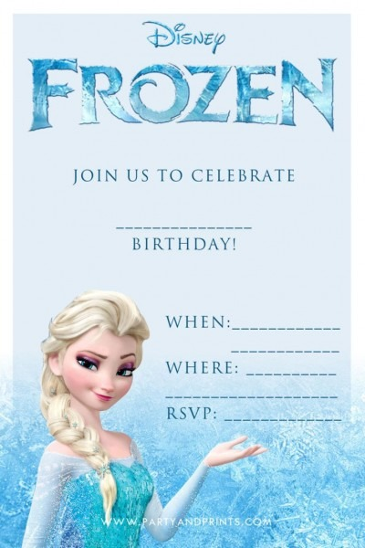 Birthday  Disney Frozen Blank Birthday Party Invitation Template