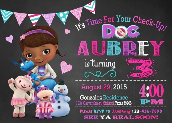 Doc Mcstuffins Birthday Party Planning, Ideas & Supplies
