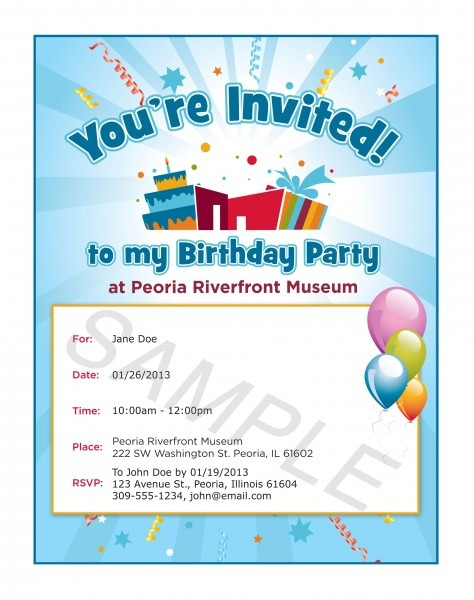 Party Invite Sample
