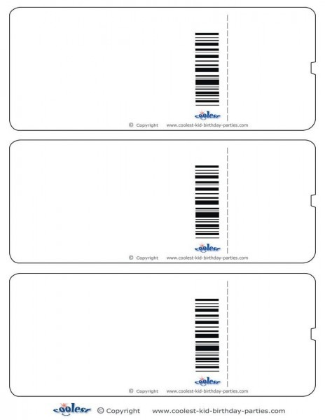 Blank Printable Airplane Boarding Pass Invitations