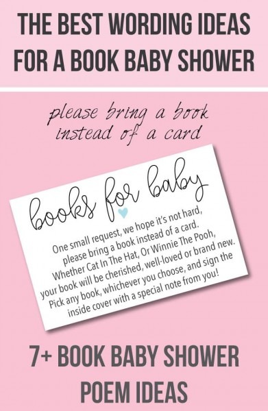 9  Bring A Book Instead Of A Card  Baby Shower Invitation Ideas