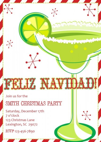 Feliz Navidad Party Invitations