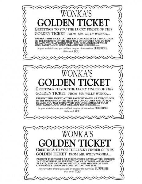 Willy Wonka Golden Ticket (original) Help  In 2018