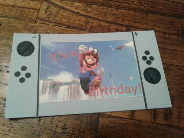 Nintendo Switch Birthday Invites