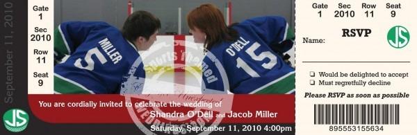 Hockey Wedding Invitation