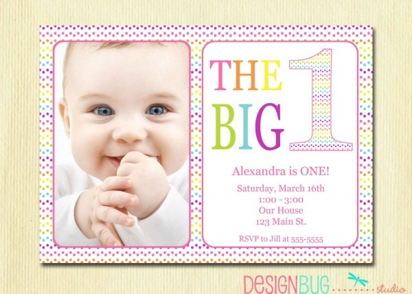 Baby Birthday Invitations Baby Birthday Invitations For Gorgeous