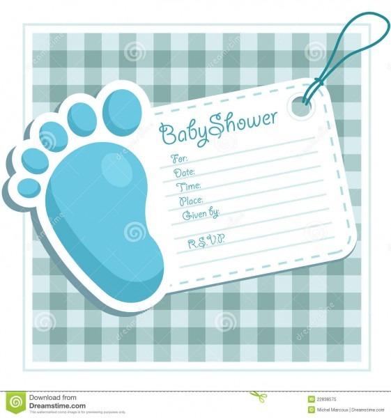 Baby Shower Invitation Stock Vector  Illustration Of Background