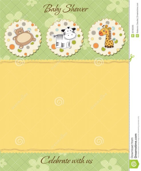 Baby Shower Invitation Stock Vector  Illustration Of Nice