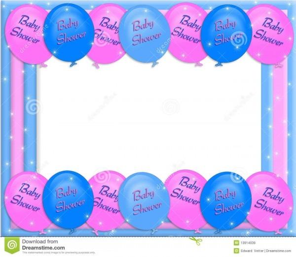 Baby Shower Invitation Border Stock Illustration