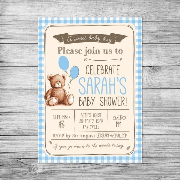 Baby Shoer Invites