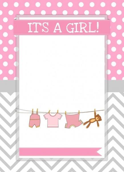 Bafececceabfdc Perfect Baby Girl Invitation Template