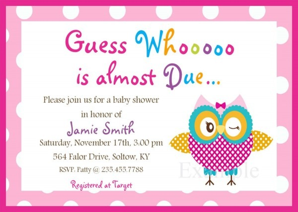 Baby Shower Invitation Free Template