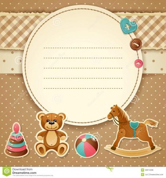 Baby Shower Invitation Stock Vector  Illustration Of Birthday