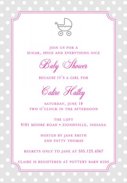 Baby Shower Invitation Wording For A Girl Elegant Baby Girl