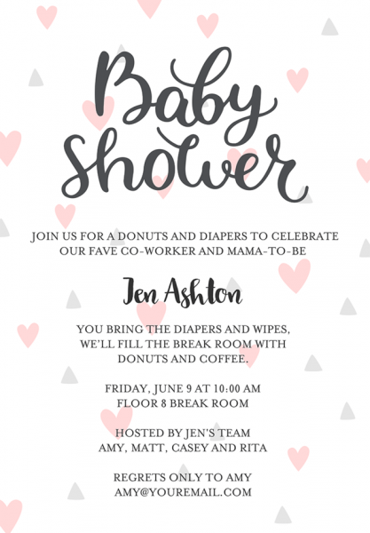 Invitation W Luxury Diaper Party Invitation Wording