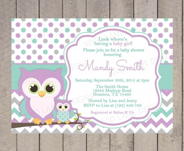 Baby Shower Owl Invitations Baby Shower Owl Invitations For Best