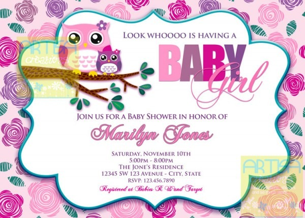 Baby Shower Owl Invitations Baby Shower Owl Invitations With