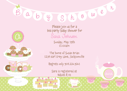 Baby Shower Tea Invitations
