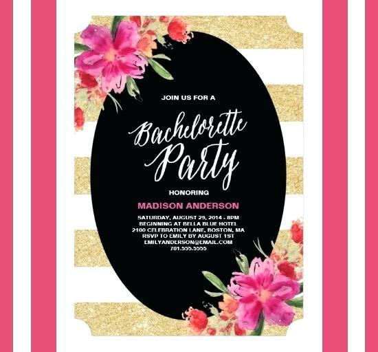 Bachelorette Party Invitation Templates Free New Design