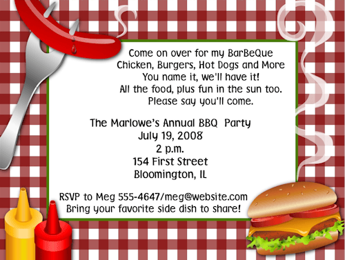 Shop Barbecue Invitations  Theme Bbq Baby Shower Invitations