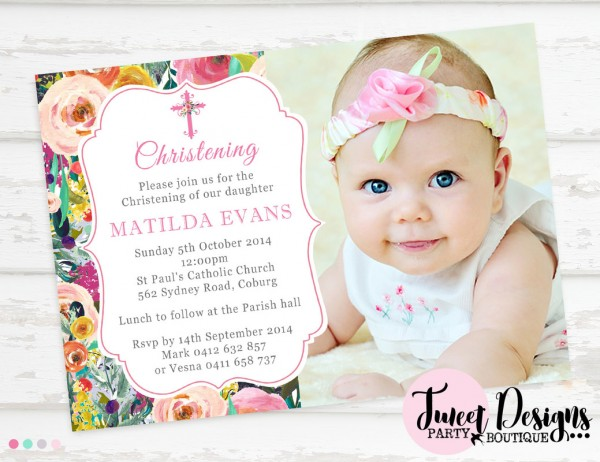 Baptism And Birthday Party Together Invitation