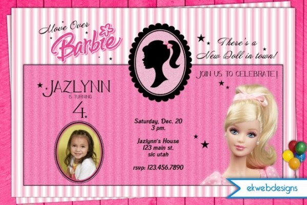 Vintage Barbie Invitations Related Keywords & Suggestions