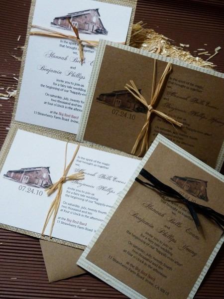 Barn Wedding Invitations Barn Wedding Invitations Accompanied By