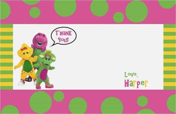 Barney The Backyard Show Part 1 Unique Barney Invitation Cards