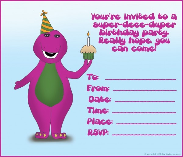 Zetaprints D Dd Cf Bb Ebeb Best Free Personalized Barney Birthday