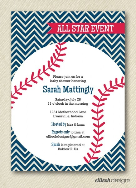 Baseball Baby Shower Invitations Baseball Baby Shower Invitations
