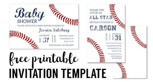 Baseball Invitation Template Short Fancy Free Printable Baseball