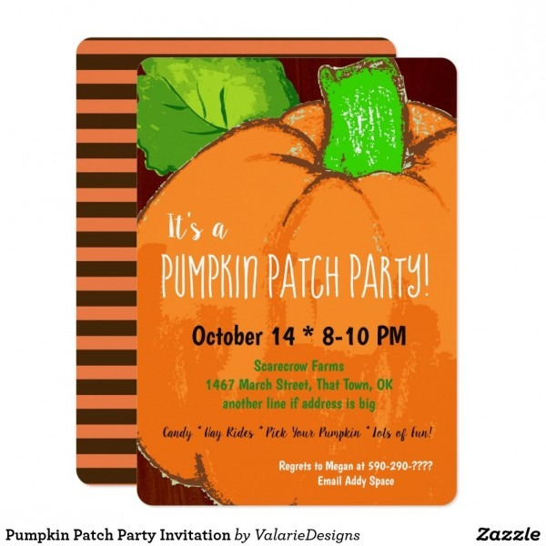 Pumpkin Patch Party Invitation In 2018