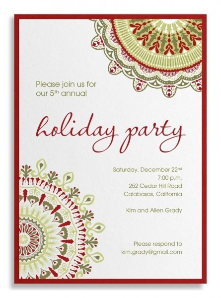 Christmas Party Invitation Wordings Fresh Holiday Party Invitation